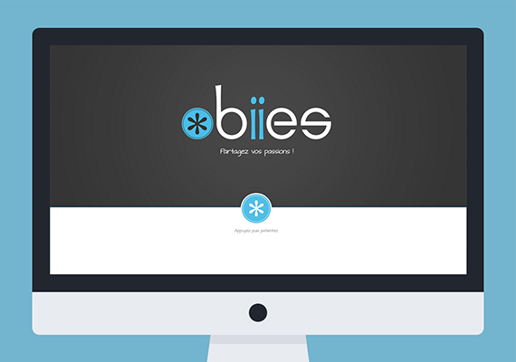Site Internet Responsive pour l'application mobile Obiies